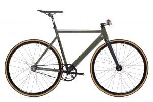 State Bicycle Co Pignon Fixe Black Label v2 - Vert Armée